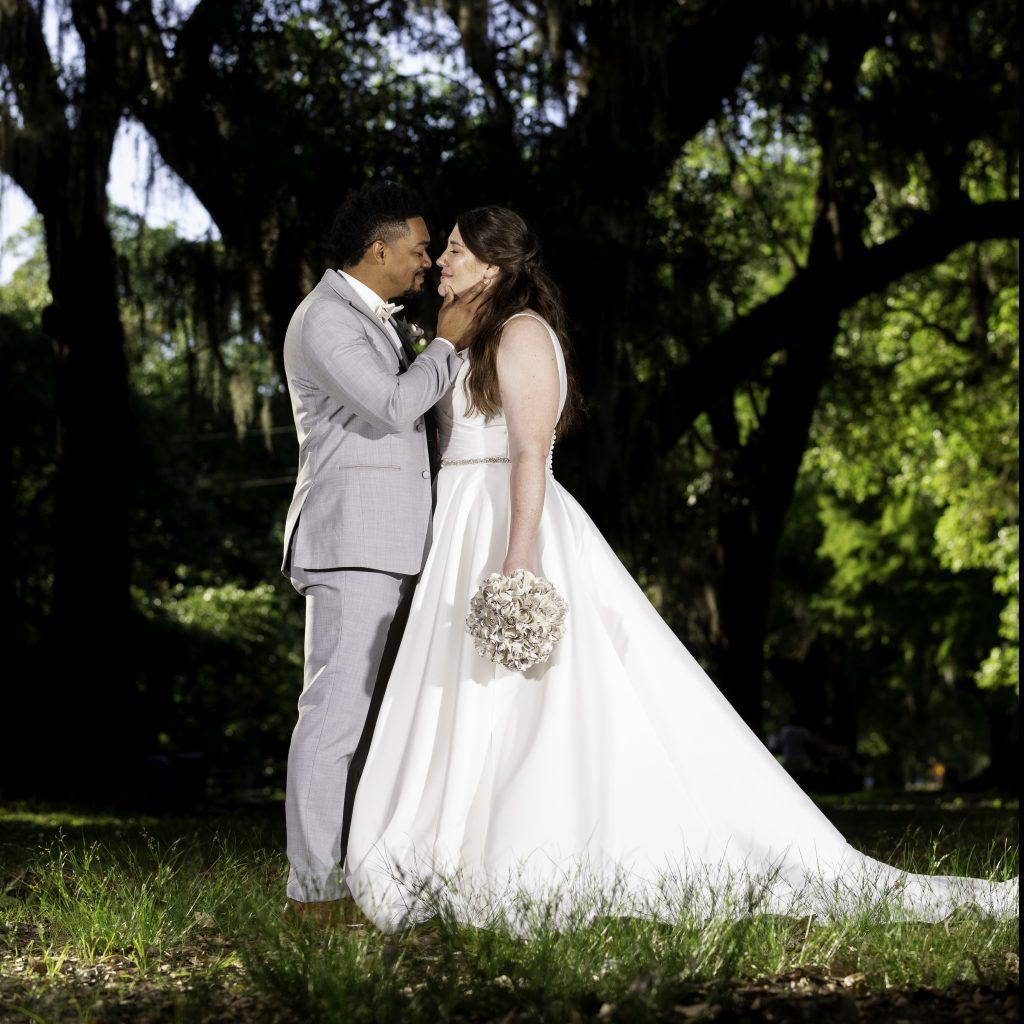 Real Brides Wearing Stella York: Real MaeMe Bride Irene + Jared's New Orleans Wedding
